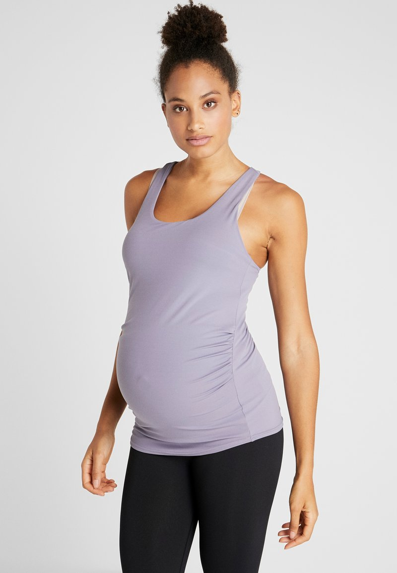 Cotton On Body - MATERNITY FITTED TANK - Top - ash amethyst