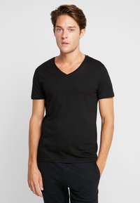 TOM TAILOR DENIM - 2 PACK - Basic T-shirt - black - 1