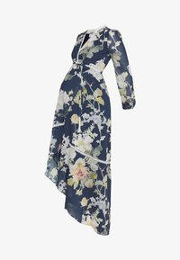 Hope & Ivy Maternity - LONG SLEEVE WRAP DRESS - Maxi šaty - navy - 4