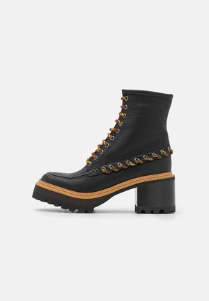 MAHALIA - Šněrovací kotníkové boty - black