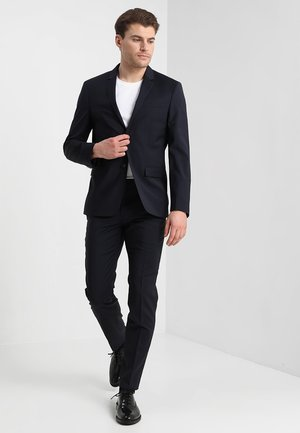 WOOL NATURAL STRETCH FITTED SUIT - Suit - true navy