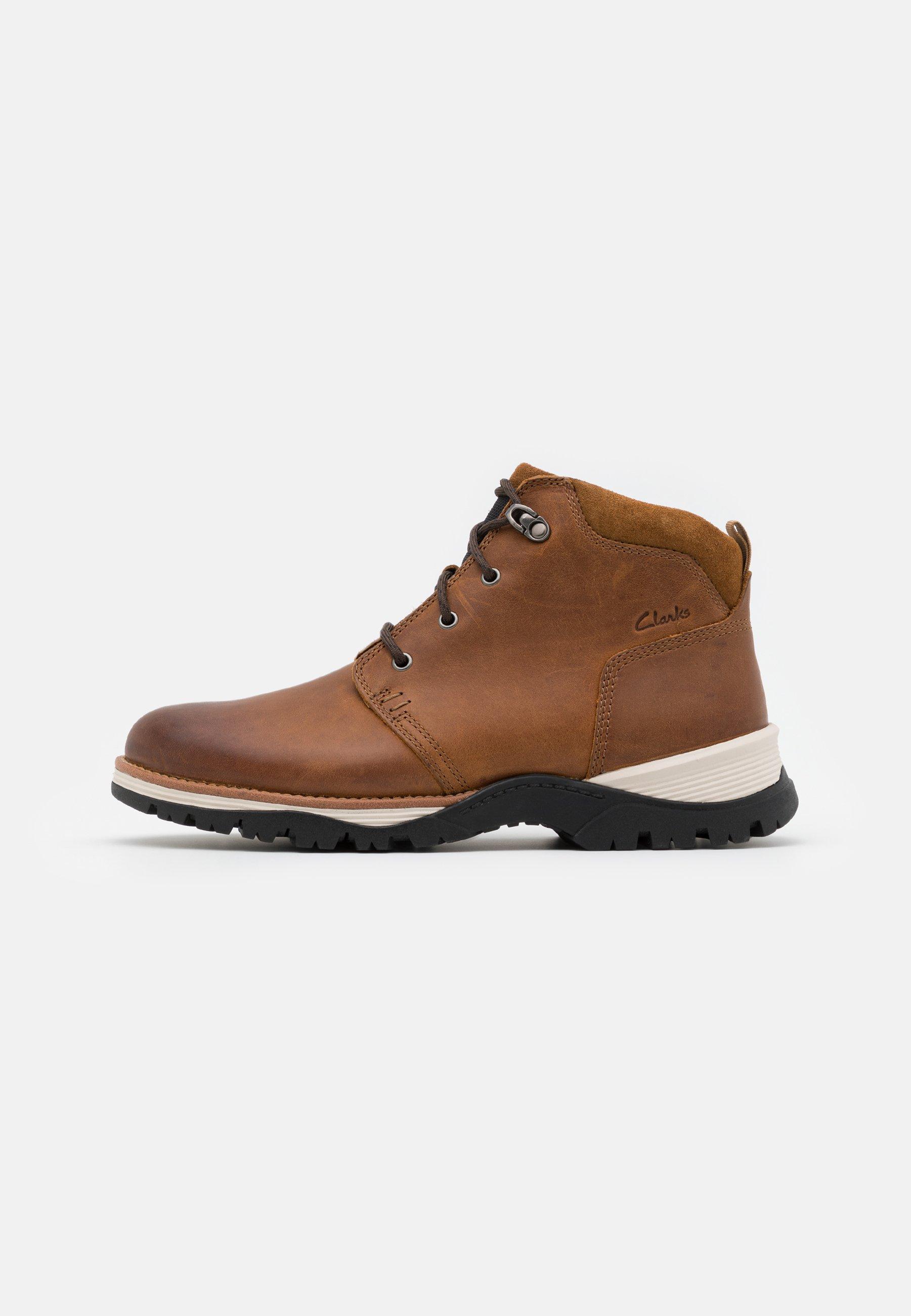 Men TOPTON MID - Lace-up ankle boots - cognac
