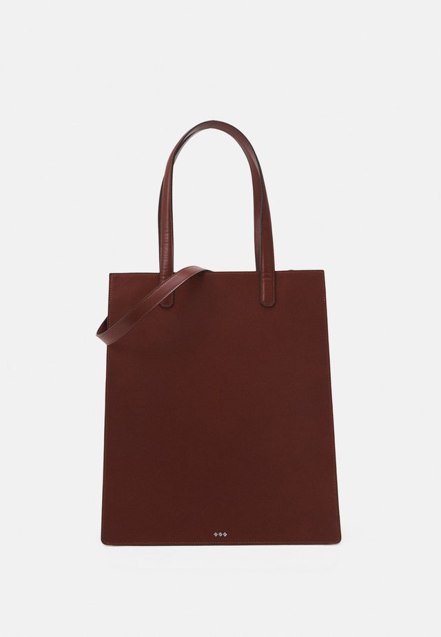 NEW CONDUCTOR TOTE - Shopping bag - cognac
