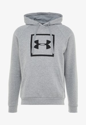 RIVAL LOGO HOODY - Sweat à capuche - steel light heather/black