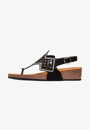 MIT RIEMEN CAMILLA - T-bar sandals - schwarz