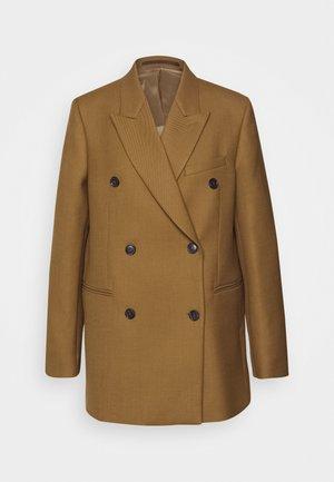 MOLEA - Krátký kabát - dark honey
