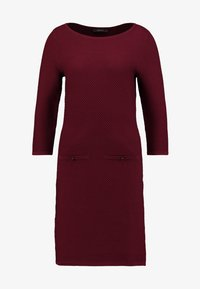 Esprit Collection - STRUCTURED - Strickkleid - garnet red - 3