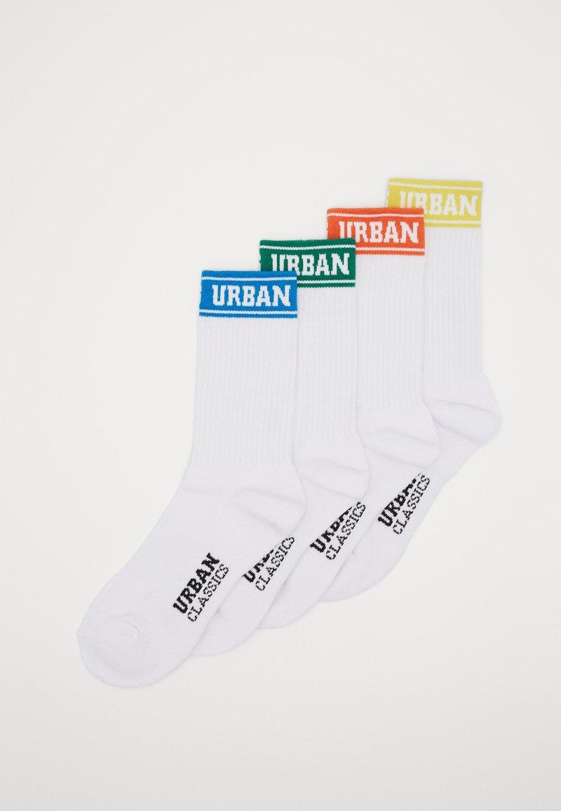 Urban Classics - SHORT SPORTY LOGO SOCKS COLOURED CUFF 4 PACK - Sukat - multicolor