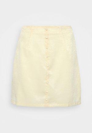 BUTTON THROUGH MINI SKIRT - A-line skirt - yellow