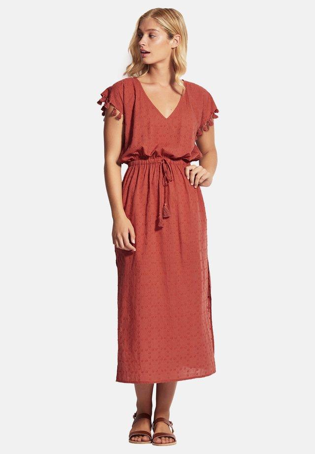 Maxi dress - burnt orange denim