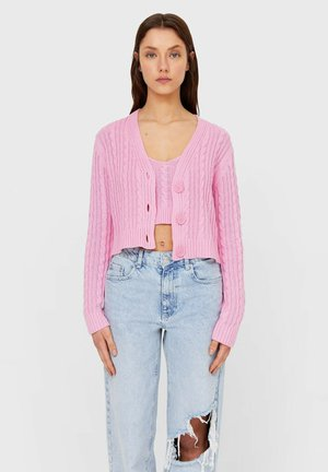 Cardigan - mottled pink