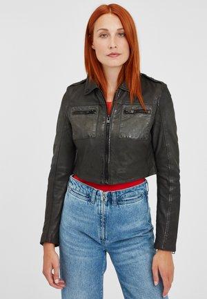 G2GMALIN LANAV - Leather jacket - black