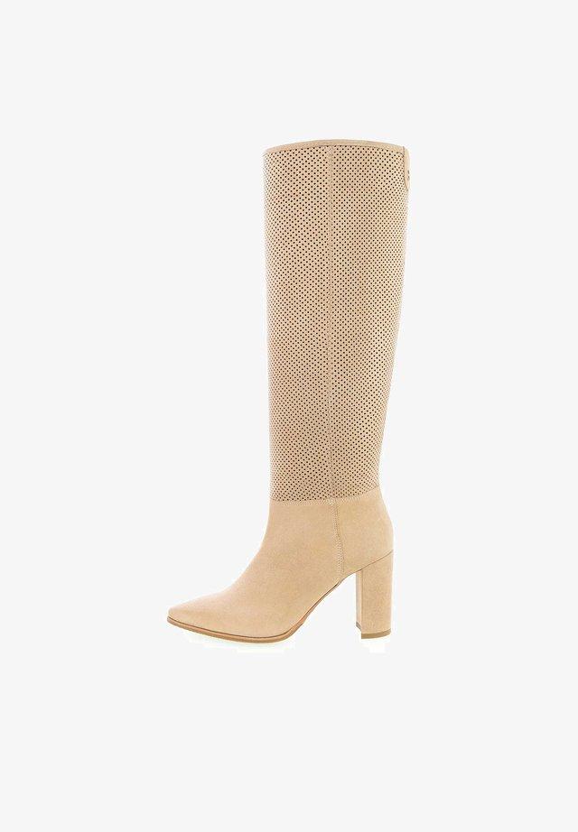 SORRENTO - Laarzen met hoge hak - beige
