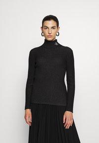 Calvin Klein Jeans - Svetr - black/bright white - 0