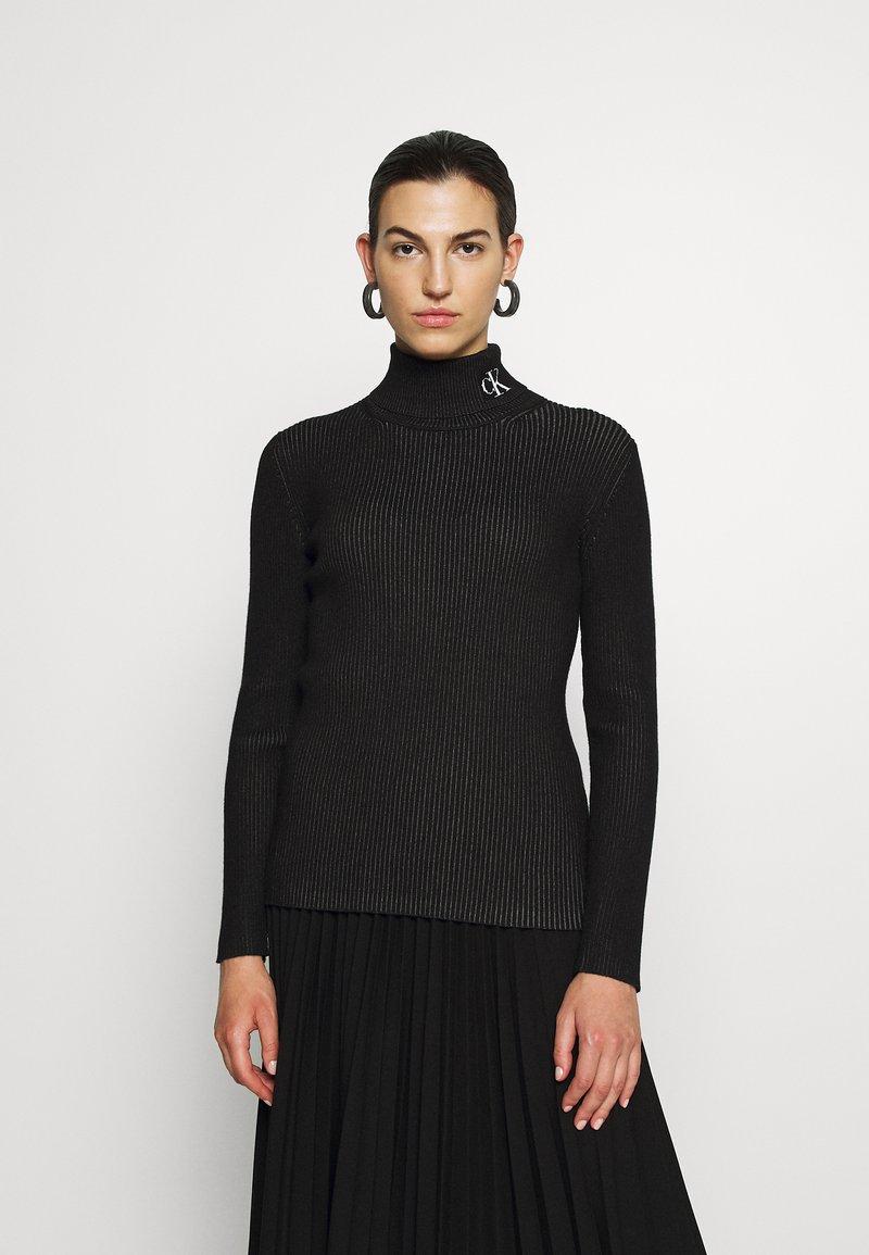 Calvin Klein Jeans - Svetr - black/bright white