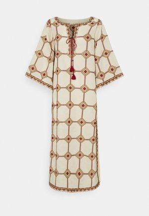EMBROIDERED CAFTAN - Maxi šaty - beige