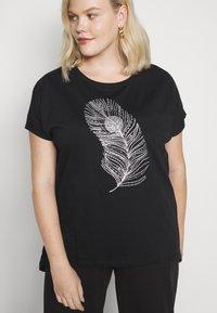 Anna Field Curvy - Print T-shirt - black - 4