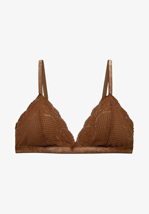 LISA BRA - Triangle bra - brown