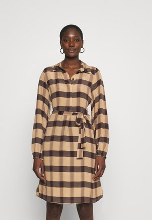 SEVERIN DRESS - Košilové šaty - sepia tint
