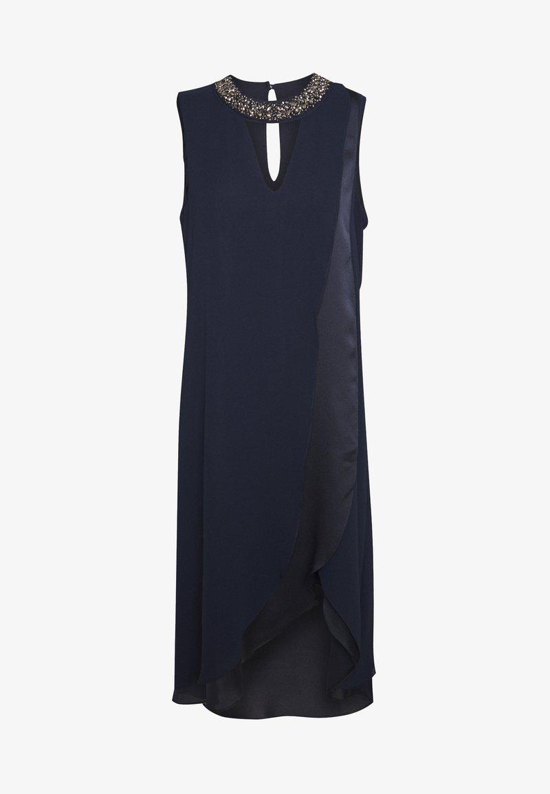 Wallis - NECK OVERLAYER DRESS - Vestido informal - ink