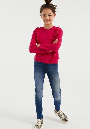 Long sleeved top - fuchsia