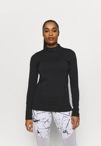 Under Armour - RUSH SEAMLESS - Long sleeved top - black - 0