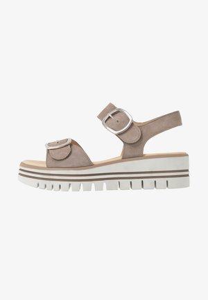 Platform sandals - visone
