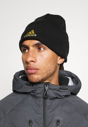WOOLIE JUVENTUS SPORTS FOOTBALL BEANIE UNISEX - Mössa - black/white/pyrite