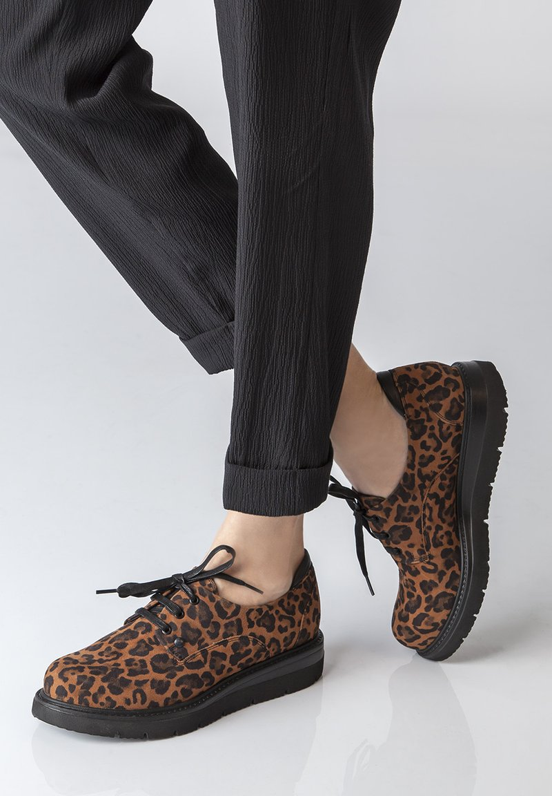 TJ Collection - DERBIES - Chaussures à lacets - brown