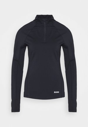 CARIN HALF ZIP - Langarmshirt - black beauty