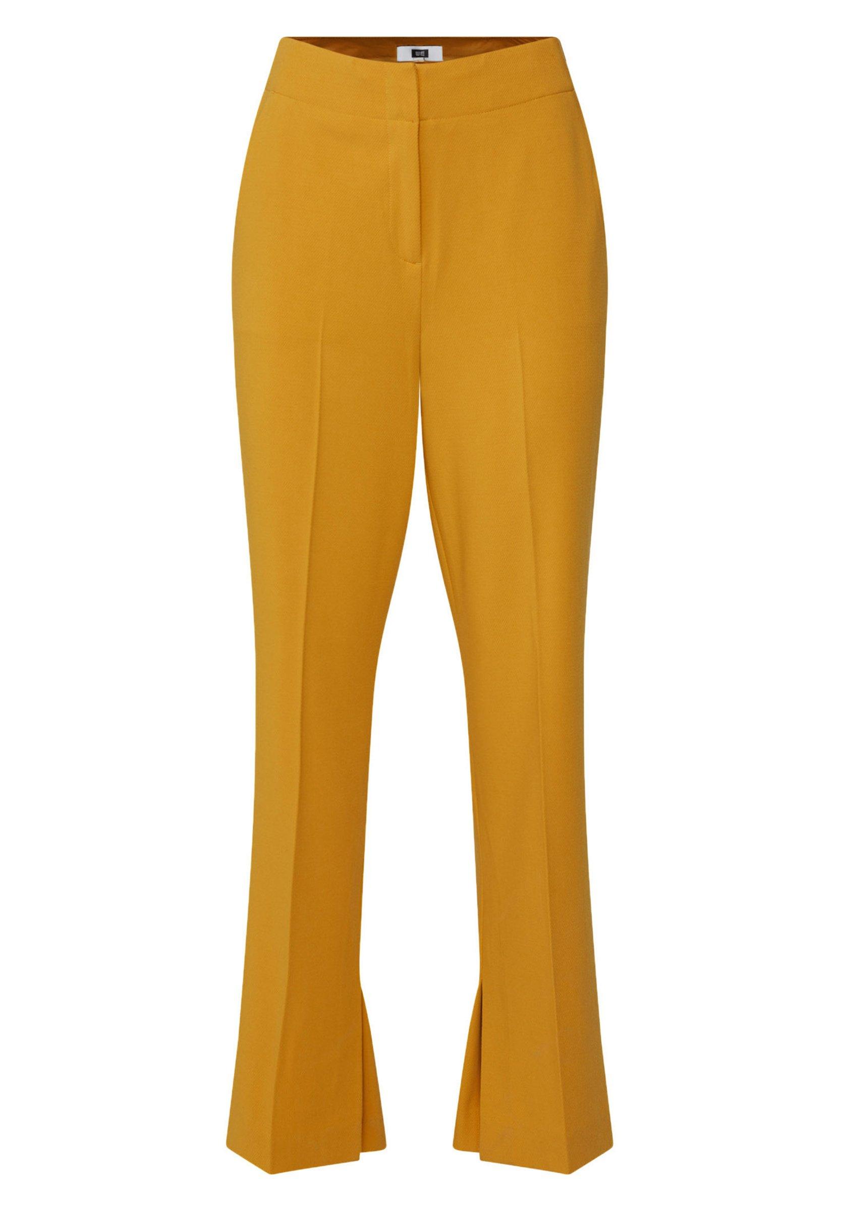 WE Fashion MIT WEITEM HOSENBEIN UND HOHER TAILLE - Pantalon classique - mustard yellow Q2mN4Emi