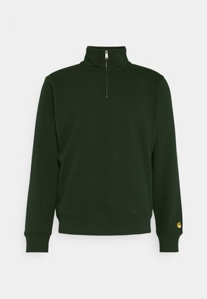 CHASE HIGHNECK SWEAT - Sweatshirts - loden/gold