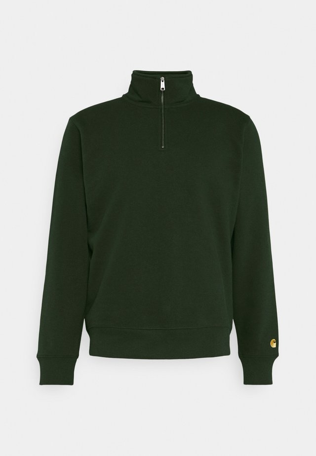 CHASE HIGHNECK SWEAT - Sweater - loden/gold