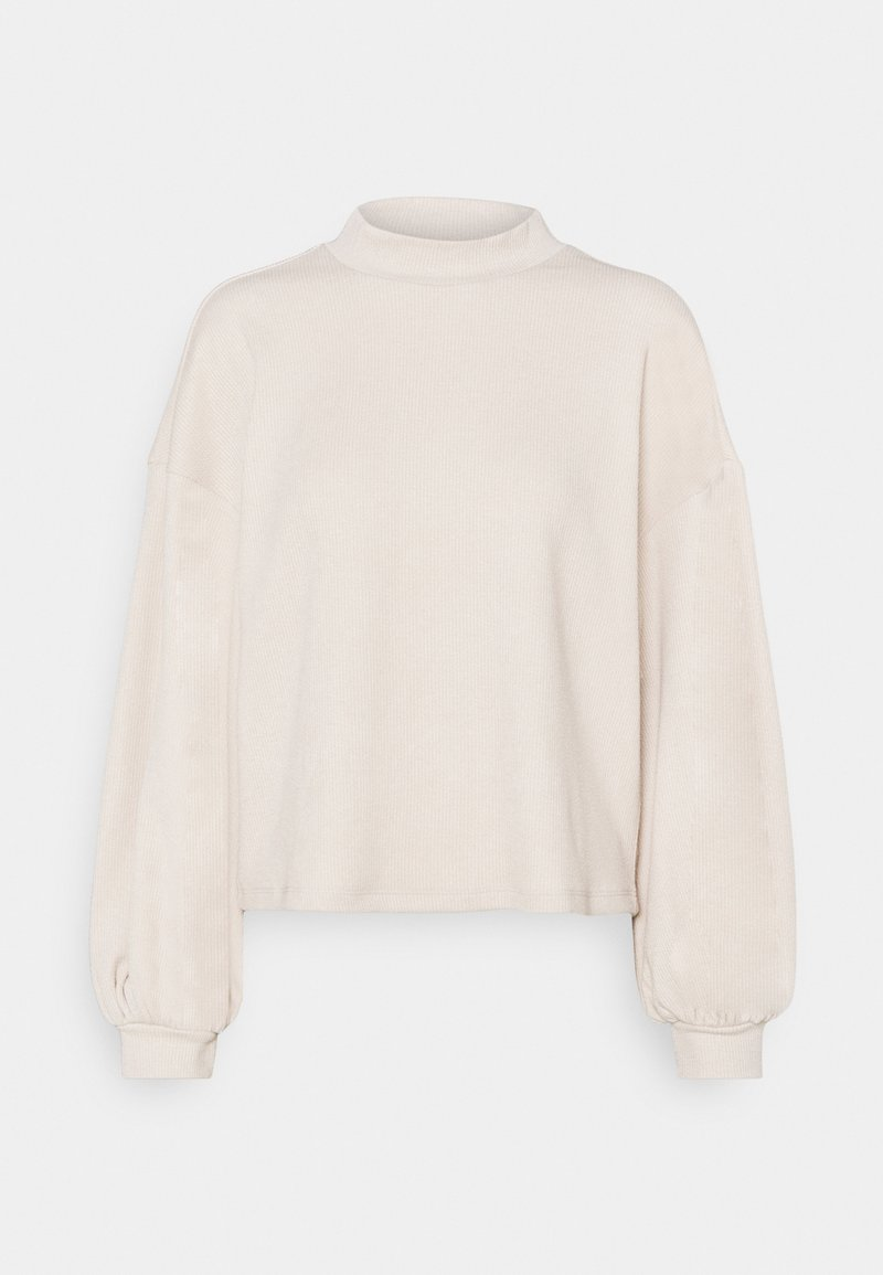 Vero Moda - VMALFIE DROP SHOULDER - Long sleeved top - pumice stone