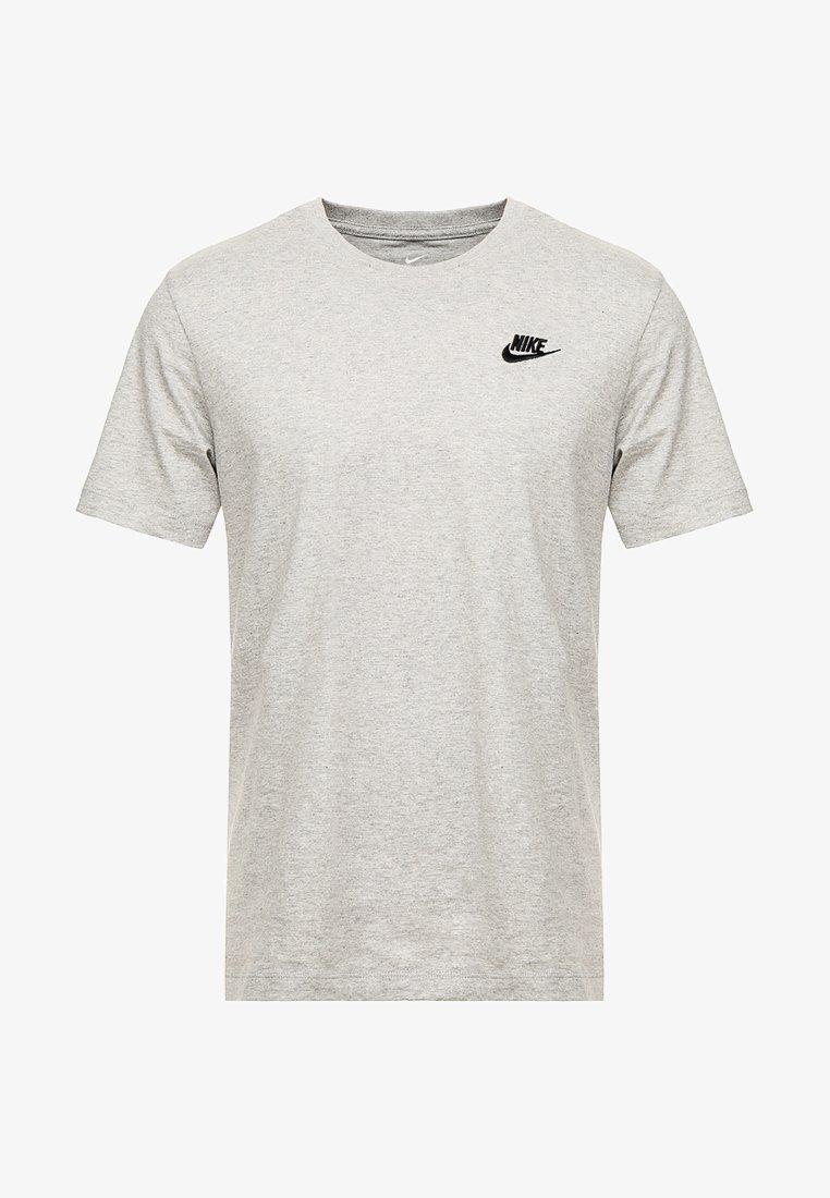 más Guarda la ropa en un día festivo  Nike Sportswear CLUB TEE - Camiseta básica - dark grey heather/black/gris  oscuro jaspeado - Zalando.es