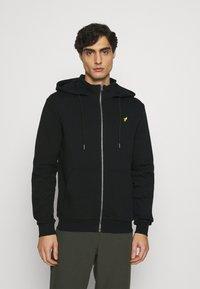 Pier One - Sweat à capuche zippé - black - 0
