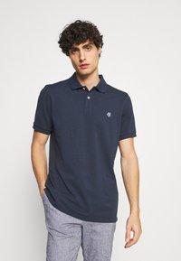 Marc O'Polo - SHORT SLEEVE BUTTON PLACKET - Polo shirt - total eclipse - 0