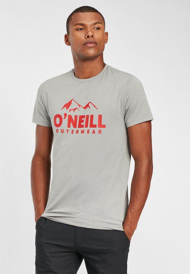 Print T-shirt - silver melee
