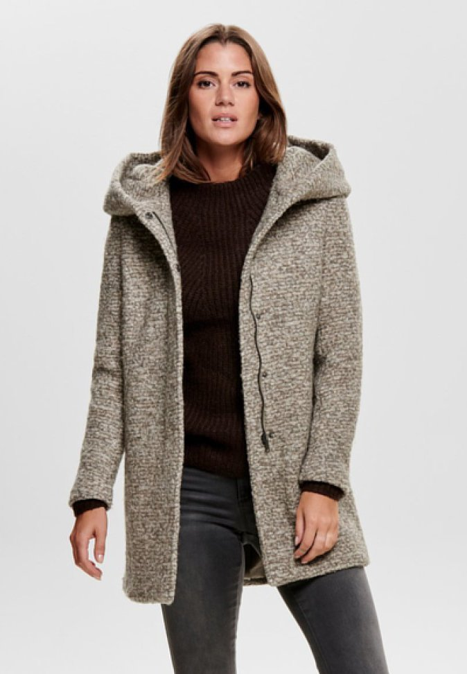 ONLY - ONLSEDONA COAT - Cappotto corto - taupe grey