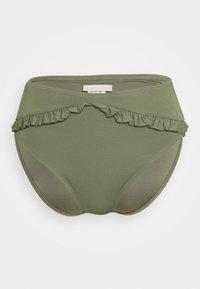 MICHAEL Michael Kors - ICONIC SOLIDS RUFFLED HIGH LEG BOTTOM - Bikinibroekje - army green - 3