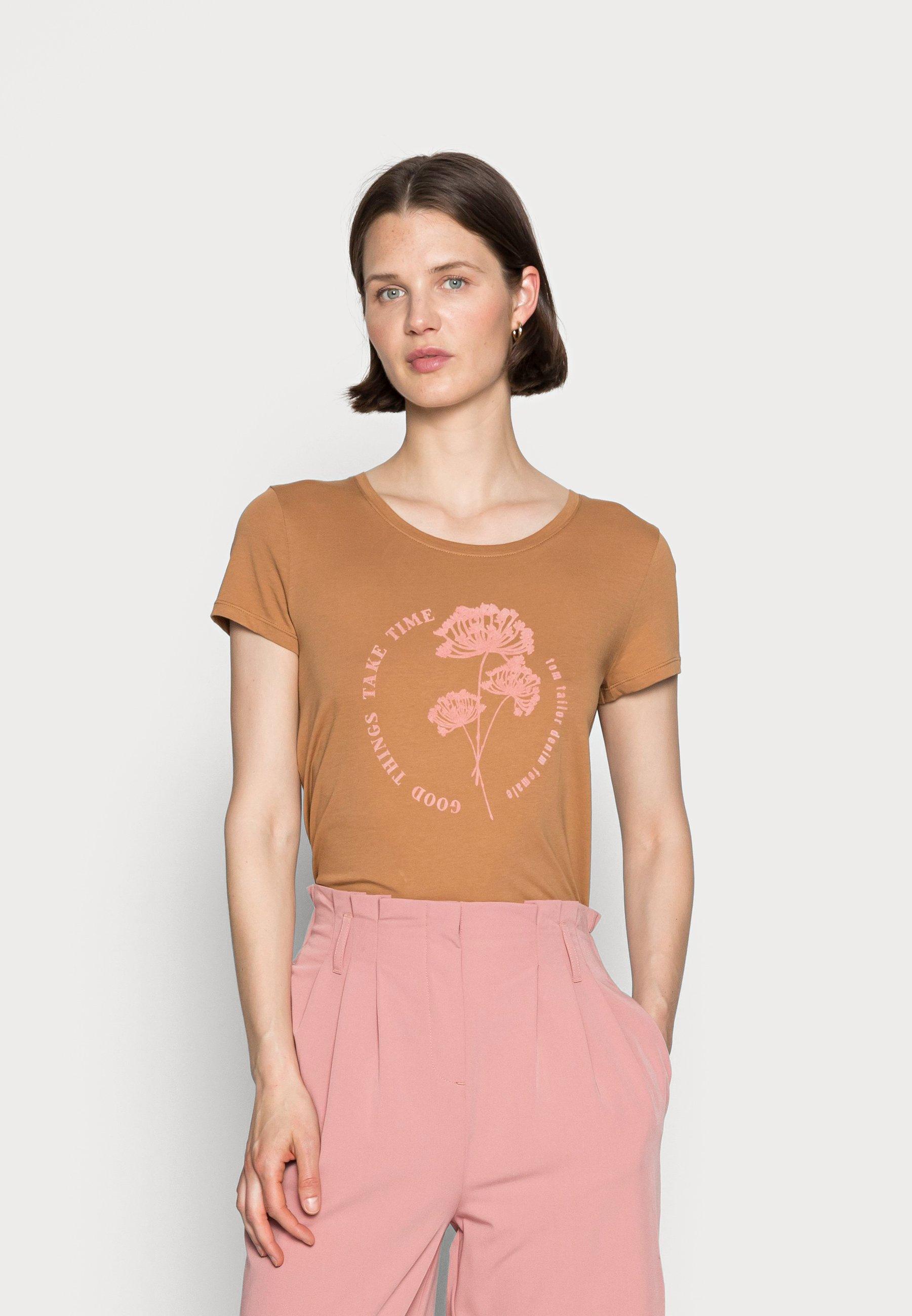 Women FLOCK PRINT TEE - Print T-shirt