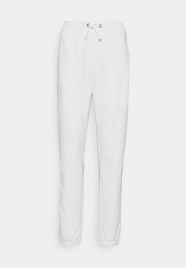 HIGH WAISTED LOOSE FIT JOGGERS  - Pantalones deportivos - off-white