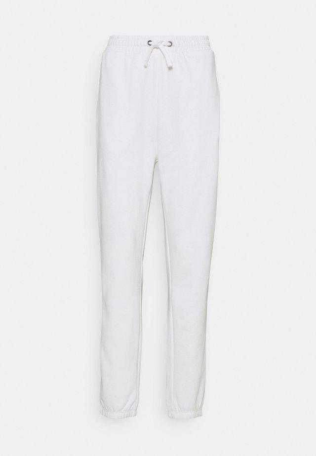 HIGH WAISTED LOOSE FIT JOGGERS  - Pantaloni sportivi - off-white