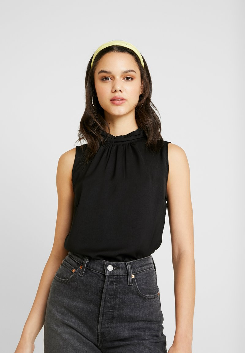 Vero Moda - VMSILLE HIGH NECK - Bluse - black