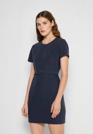 BELTED TAILORED DRESS - Fodralklänning - dark blue