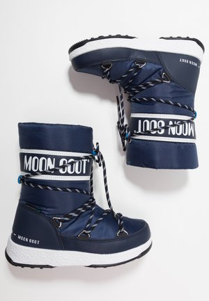 BOY SPORT WP - Winter boots - navy blue/white