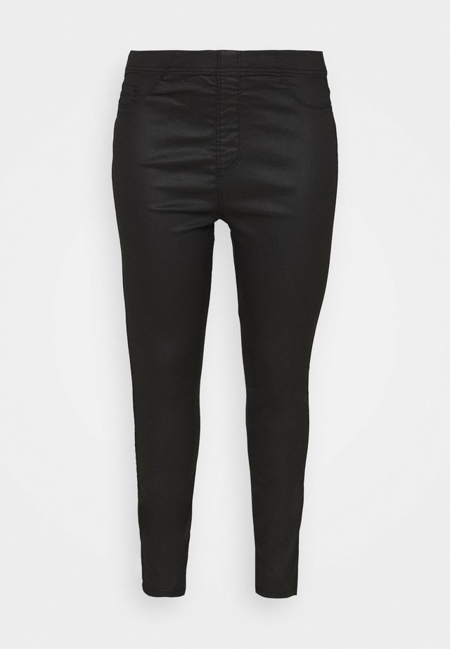 COATED - Leggings - black