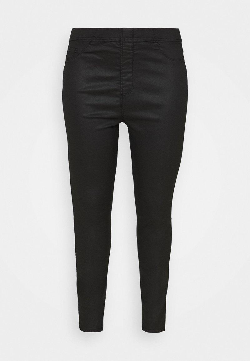 Evans - COATED - Leggings - Trousers - black