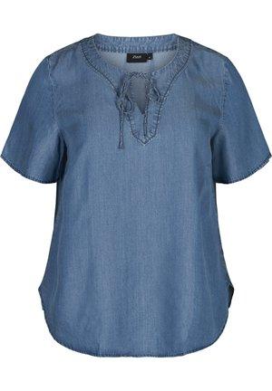 MIT KURZEN ÄRMEL - Bluse - blue