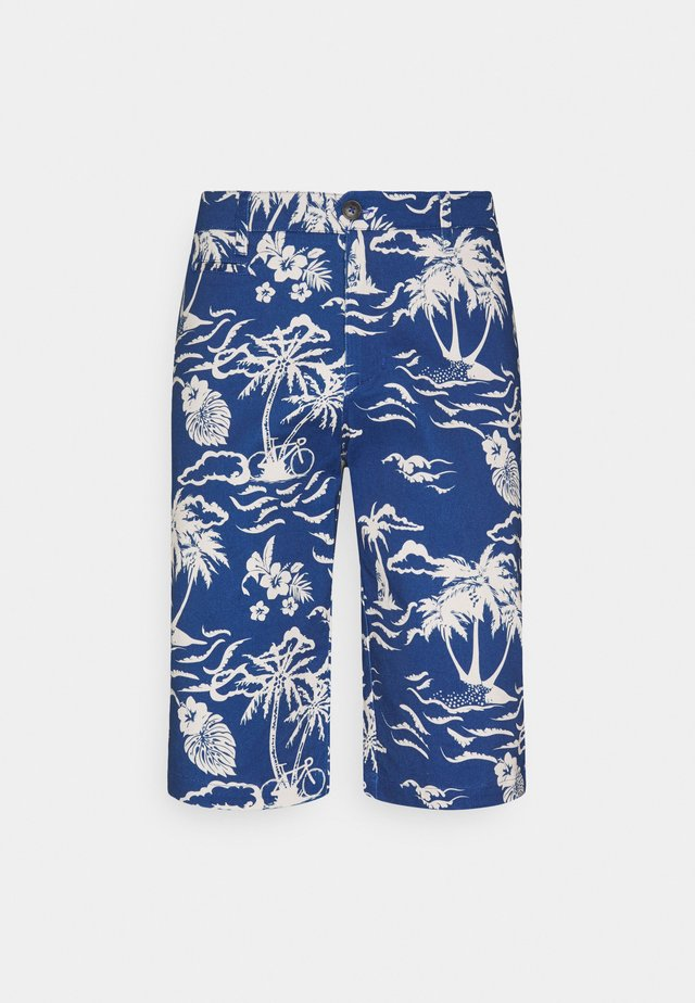 SAULIEU - Shorts - blue/white